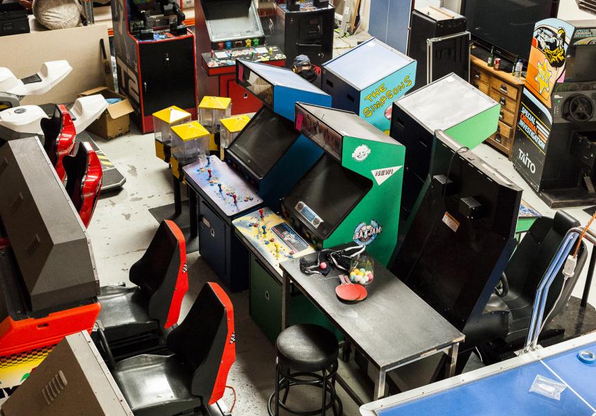 Part of Saran Bajaj's personal arcade game collection.
