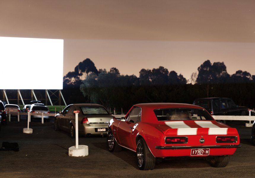 At the drive-in: Scenes from a Saturday night.