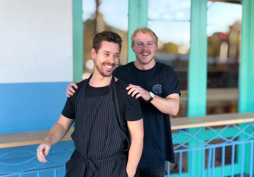 Chef Matt Eustis and restaurant manager Jack Booker