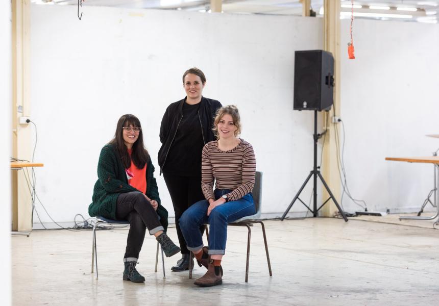 Yasmin Gurreeboo, Nescha Jelk and Rebecca Mayo