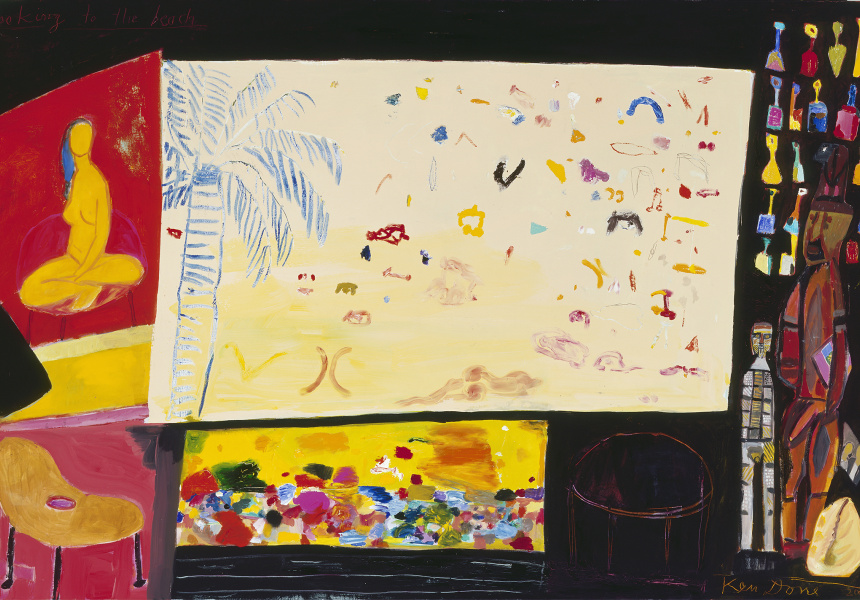 Ken Done 'Looking to the beach', 2005, oil and acrylic on canvas, 122 x 183cm.
