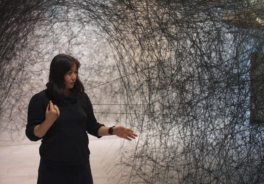 Chiharu Shiota. Courtesy of the artist and Anna Schwartz Gallery