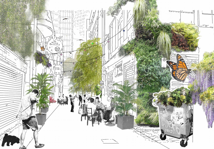 Draft concept for the Green Your Laneway Pilot project