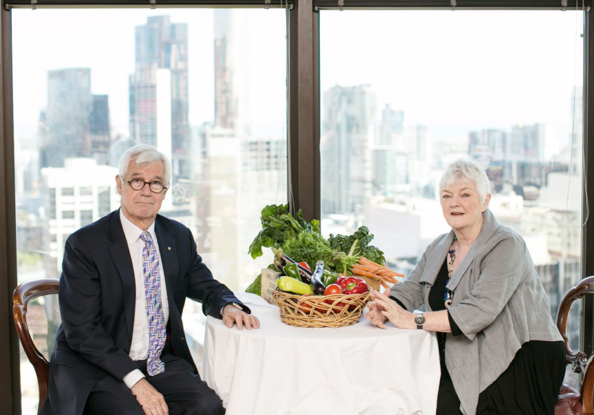 Left to right: Julian Burnside and Stephanie Alexander