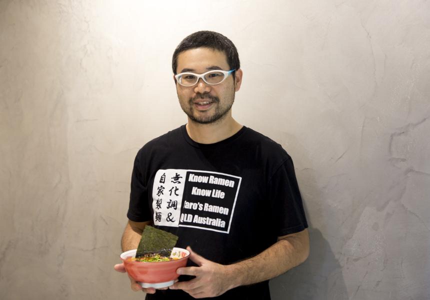 Taro's Ramen & Cafe owner, Taro Akimoto.