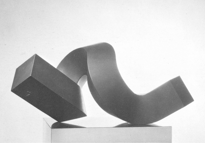 Clement Meadmore  born Australia 1929, lived in United States 1963– 2005, died United States 2005  Curl 1968  steel, ed. 2/4  38.0 x 76.0 x 35.5 cm collection unknown  STATUS: MISSING
