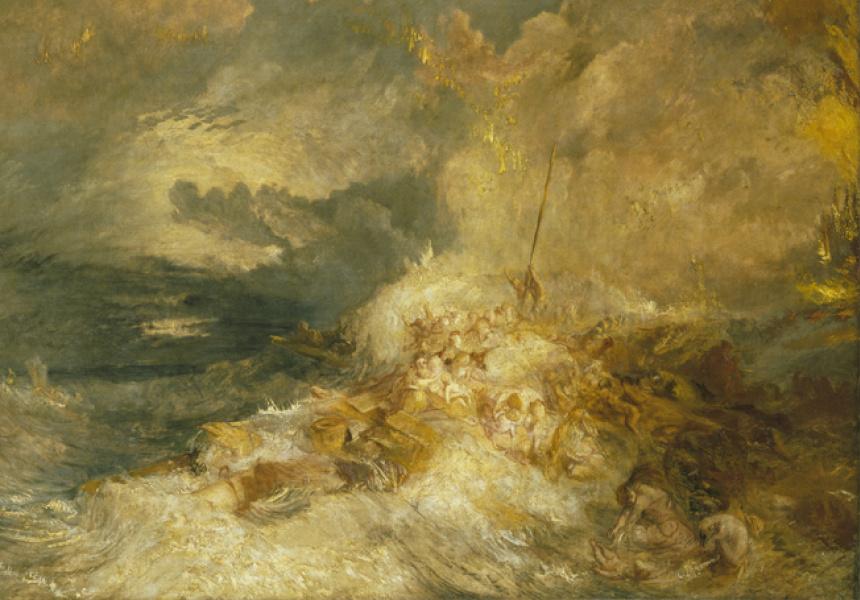 A Disaster at Sea, (detail), circa 1835