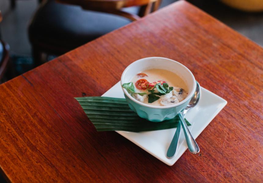 Tom Kha Kai soup at Bangkok Sidewalk