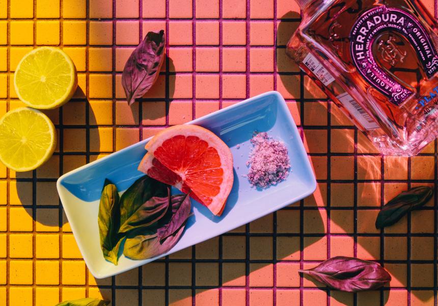 Ingredients for The Basil Margarita