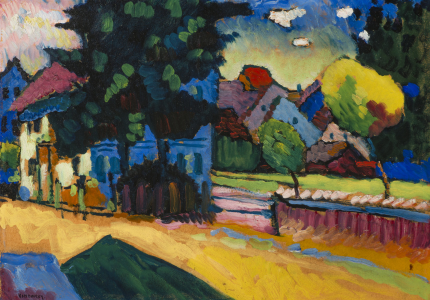 Wassily Kandinsky, 'View of Murnau: landscape with a green house' 1908