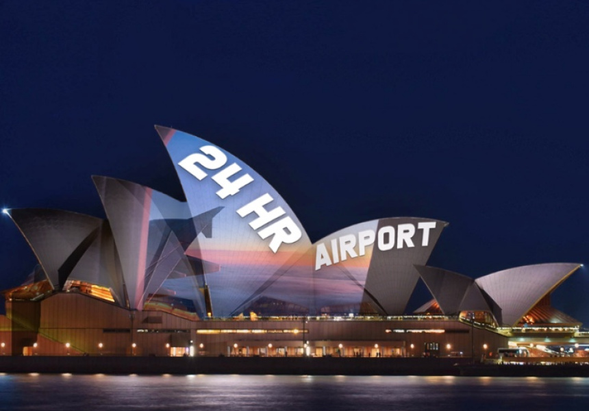 The Chaser project new ad onto Opera House as Jones apologises for Louise Herron interview