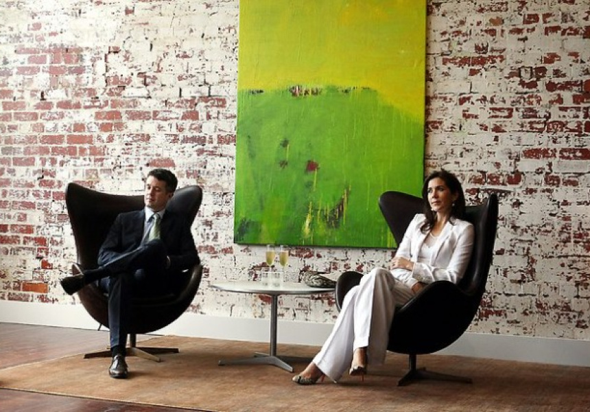Princess Mary and Prince Frederick. Green, yellow with red, 2011 Andrew O'Brien.