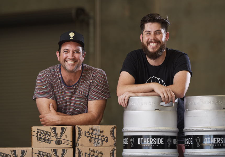 David Chitty (Triple-1-Three) and Rhys Lopez (Otherside Brewing)