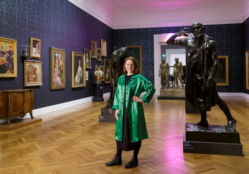 Leigh Robb, Curator, Contemporary Art, Melrose Wing of International Art, Art Gallery of South Australia, Adelaide; photo: Saul Steed.