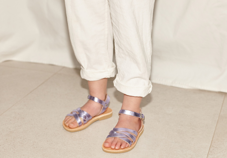 Introducing Mini Maria Farro, Grecian Gladiator Sandals for