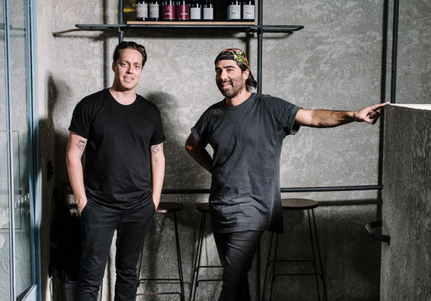 Joel Amos (left) and Arturo Escartin of Present Company.