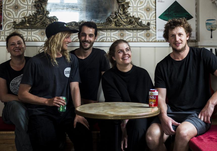 Amy Hamilton (second from right), Liberte.