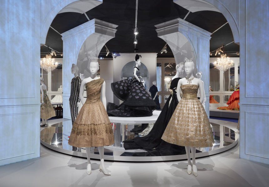 Installation view of The House of Dior