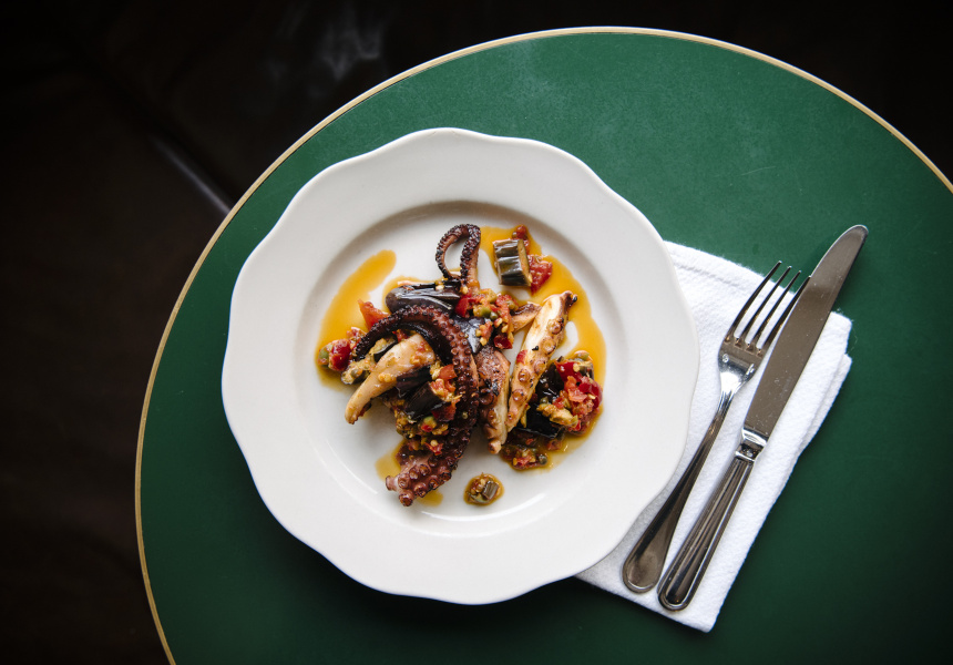 Octopus and eggplant caponata