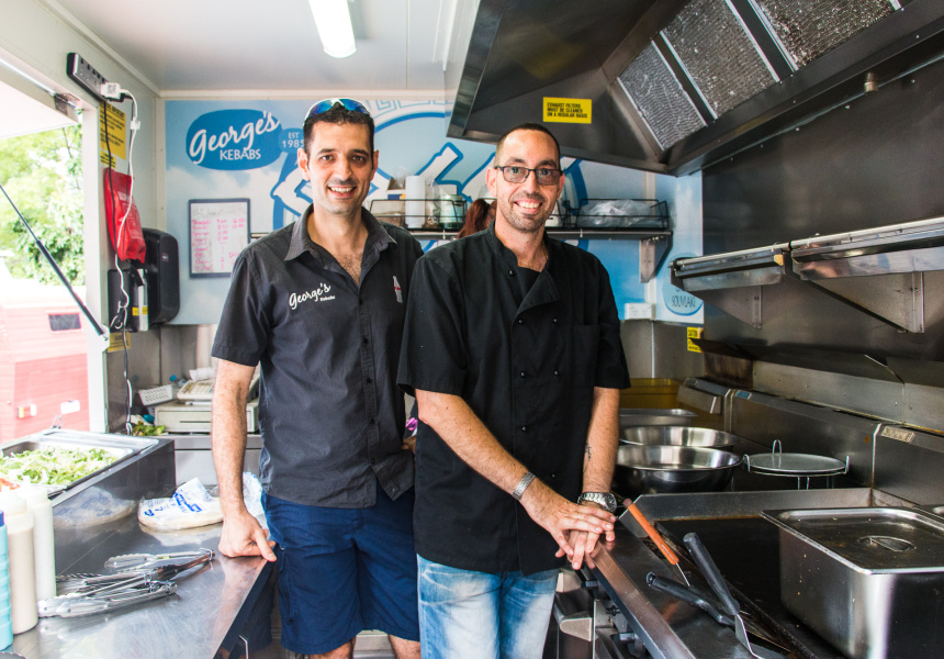 George (left) and Jim Marinakos of George's Kebabs and Greek Streats.