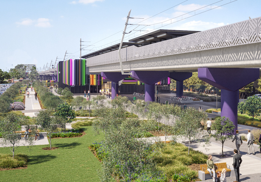 Artist's impressions courtesy of Level Crossing Removal Project. Subject to change in future.
