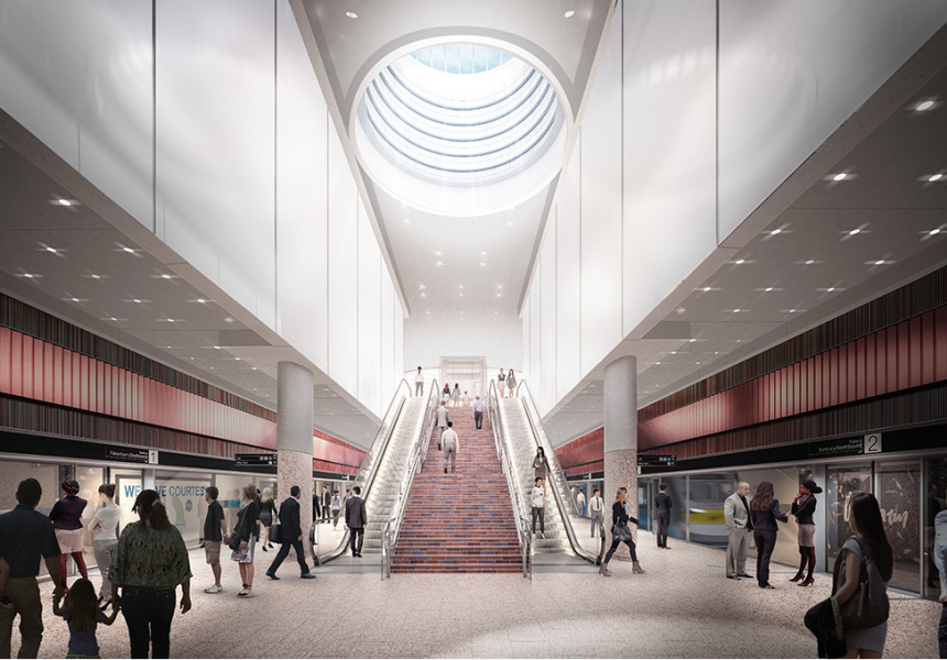 The new North Melbourne Station.