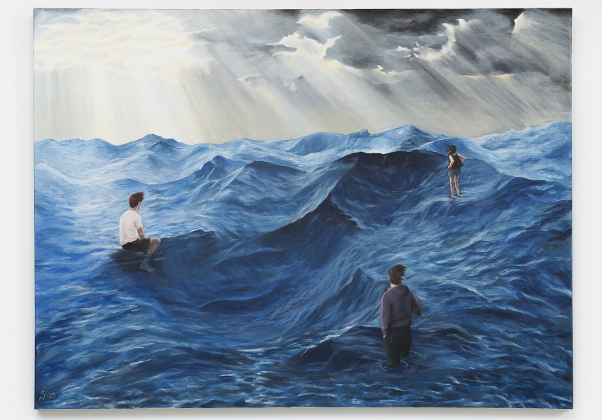 """""""Into the deep"""" by Sarah Frost, James  Gleeson Surrealism award winner"""