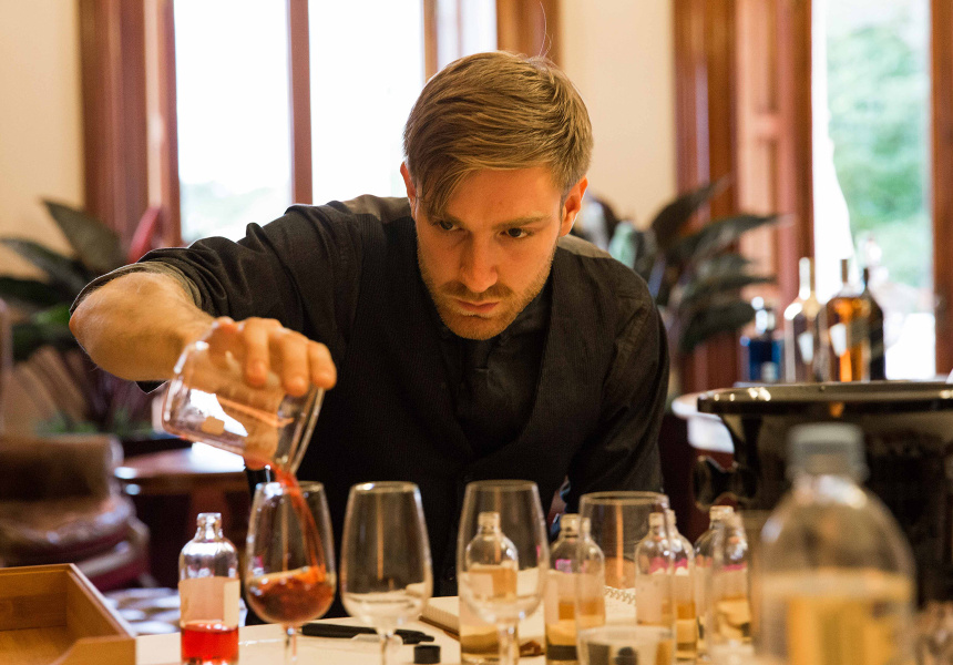 Sasha Leonard competing at the Diageo Reserve World Class Finals.