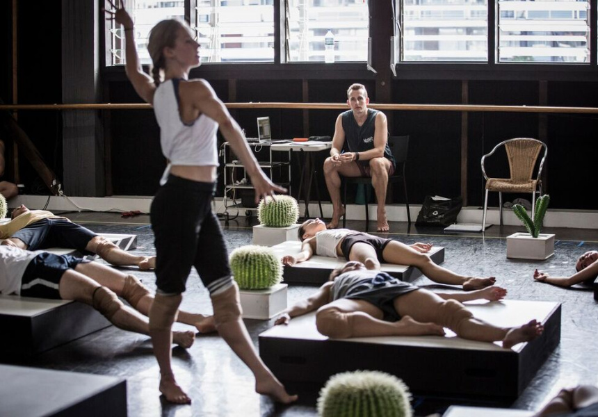 Rehearsal for Sydney Dance Company's 'Cacti'