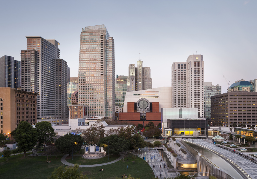 The new SFMOMA, view from Yerba Buena Gardens