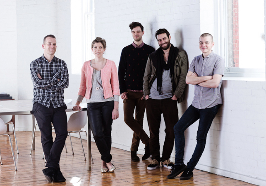 Andy Sargent, Lucy Feagins, Jesse Mallon, Joel Edwards, Ryan Hilton.  Photography by Sean Fennessy.