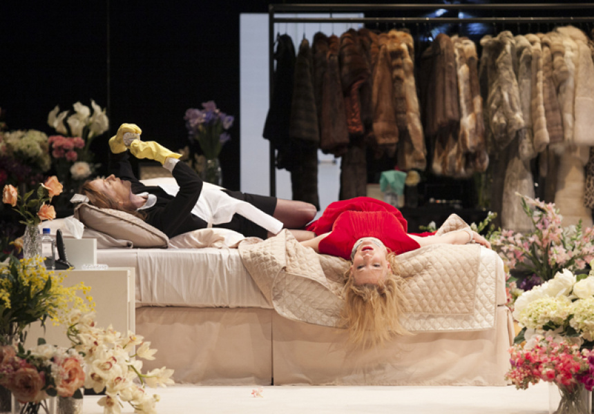 Cate Blanchett and Isabelle Huppert in STC's The Maids