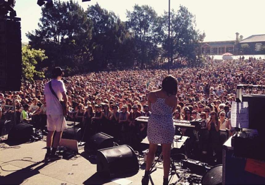 In Sydney at Laneway Festival. Photography: @cloud_control