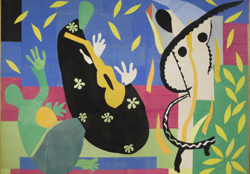 Henri Matisse 'The sorrow of the king (La tristesse du roi)' 1952 gouache on paper, cut and pasted, mounted on canvas, 292 x 386 cm Centre Pompidou. Musée national d'art moderne AM3279P