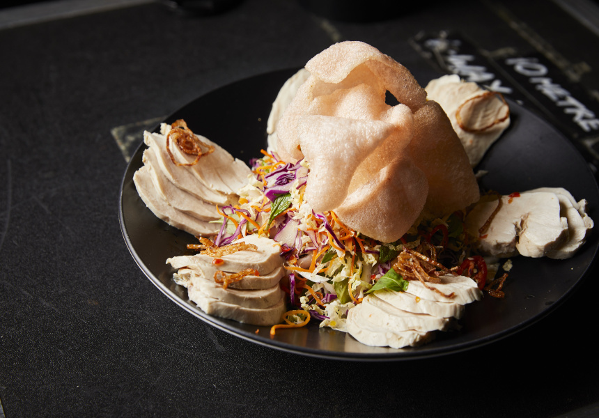 Free range poached chicken slaw, nuoc mam by Jerry Mai
