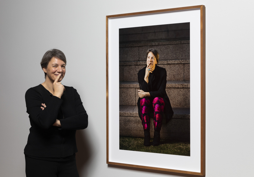 Michelle Simmons, with portrait by Selina Ou