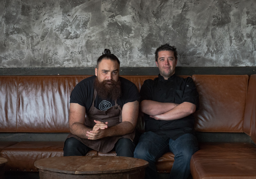 Bartender Ben Tua and chef Leigh Power of Sweetwater Rooftop Bar.