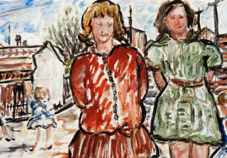 Danila Vassilieff, Valerie and Betty 1937, Heide Museum of Modern Art, Purchased from John and Sunday Reed 1980