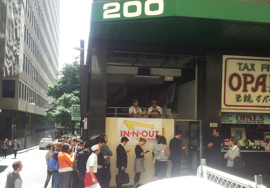 The queues at the last In-N-Out pop-up in Melbourne