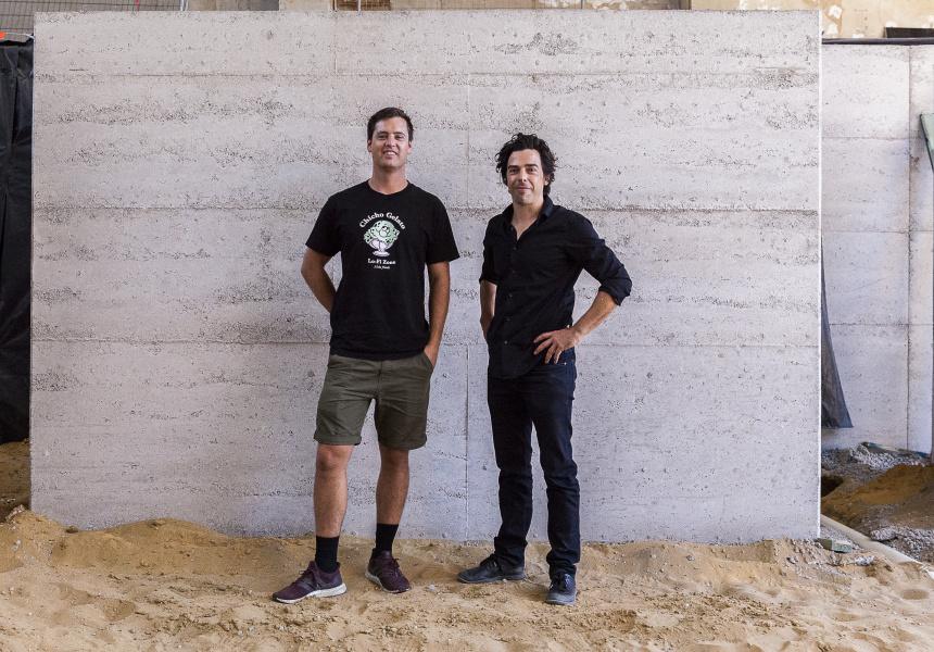 Elliot Moore (Mane Liquor) and Benjamin Braham (Braham Architects).
