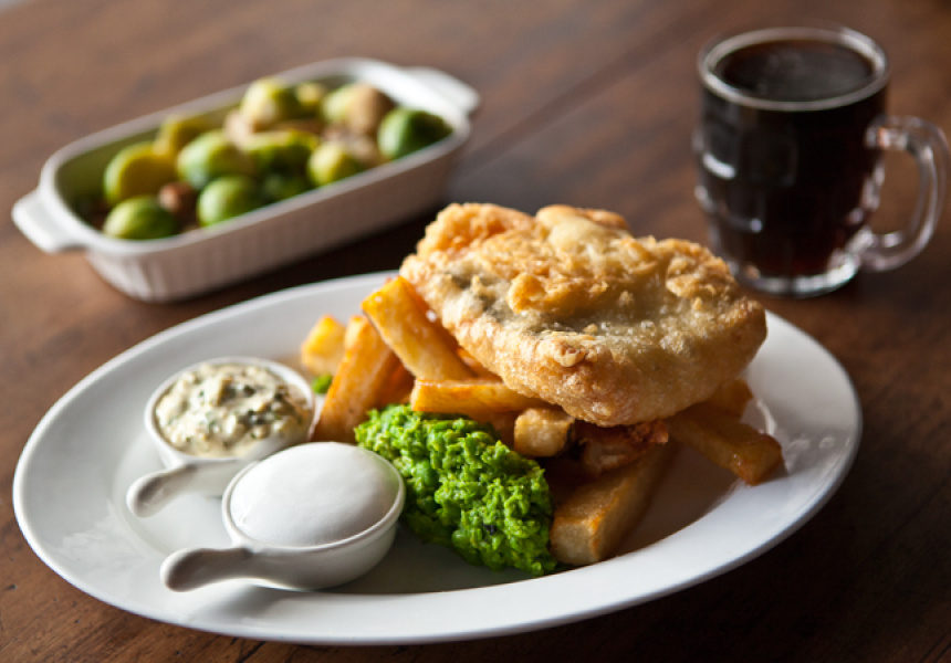Fish and chips at The Wilde