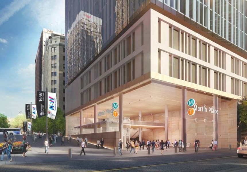 Artist's Impression of new Martin Place station