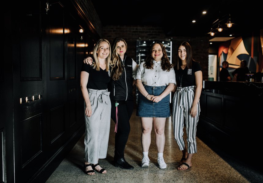 Alex Minus (Event Manager), Renee Bezzina (Group Venues Manager), Carly Heinrich (Bar Manager) and Gabby Millane (Brand Manager)