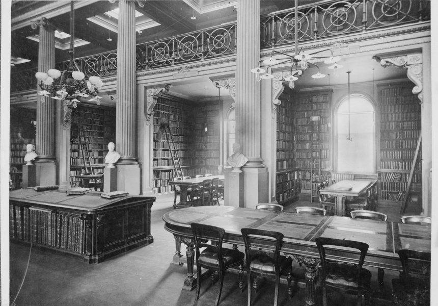 Queen's Hall at State Library of Victoria in 1910