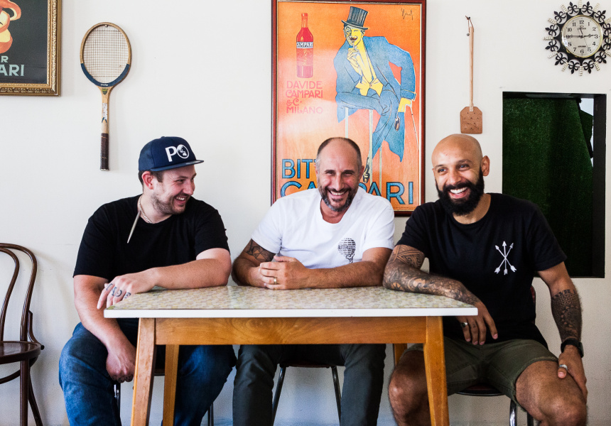 Juanita's new owners Luke Foyle, Anthony Princi and Jeremy Diaz.