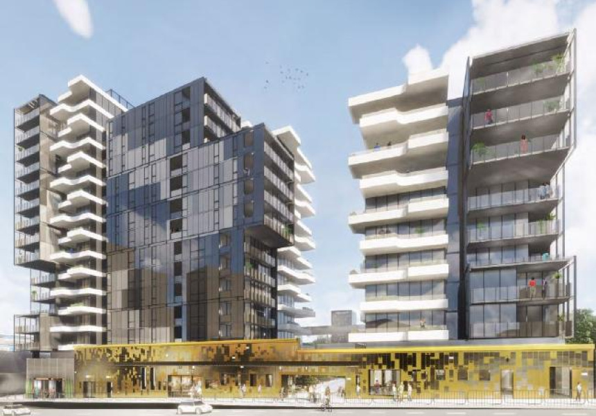 Renders of the new development from Rothelowman architects.