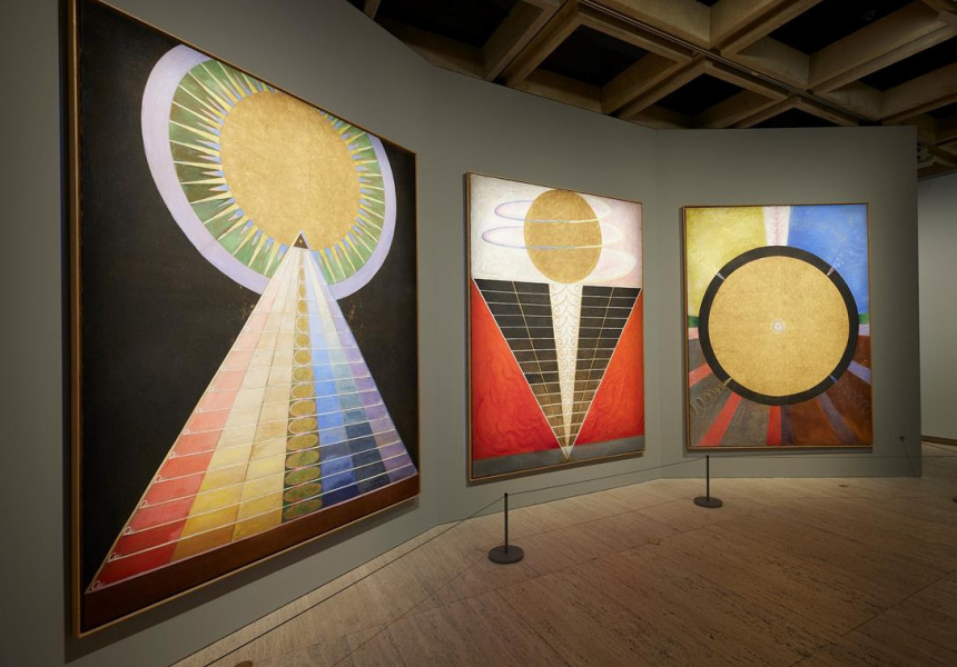 Installation view of Hilma af Klint: The Secret Paintings