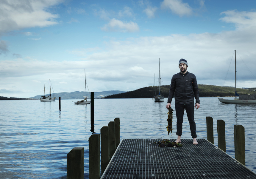 Rene Redzepi foraging for seaweed in Tasmania
