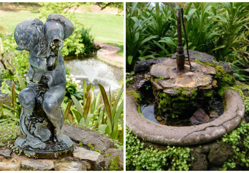 Boy with Urn in Fitzroy Gardens, before and after the vandalism