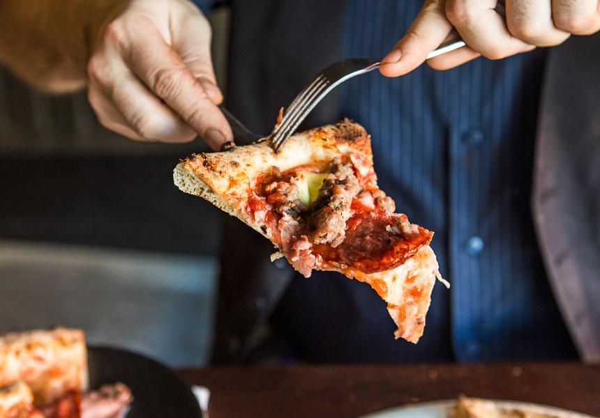 400 Gradi's Mailalina pizza